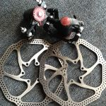 Avid BB5 brakeset include Rotor,all nut. (Free pos w.m)