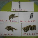 Titanium bolts M5 and M6 new stock-cheap
