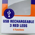 Taiwan D-Light Recharge Rear Safety Light @ free pos