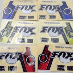 Sticker Reflektor Fox 32 (blue,yellow,red)