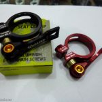 12o'clock Lever Type Seat Clamp 31.8 - Black / Red with Titahium Axle and 7075 Body