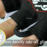 Original ~ Spakct skeleton style half fingers gloves for cycle