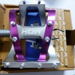 MDH PVB01 - Silver/Purple - 100% CNC with aluminium pins - Superlight Pedals