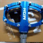 MDH PCA01 - Blue - 100% CNC with aluminium pins - Superlight pedals with