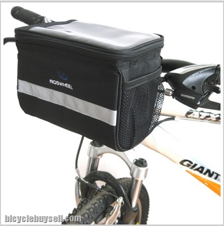 Roswheel Front Bag Bicycle Handlebar With Map Holder Touring