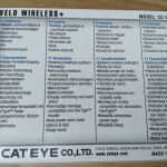 Cateye Velo Wireless Plus -Night Mode Light Meter (Japan)  free courier