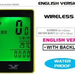 NEW YS WIRELESS SPEEDOMETER (ENGLISH VERSION) WITH BACKLIGH