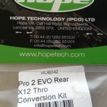 Hope Rear Hubs Conversion Kits 12/142mm Thru Axle - Rear - Made In UK -- free courier