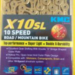 KMJ X10SL TITANIUM SUPER LIGHT FULL HOLLOW 10SPD MTB/RB CHAIN (FREE POS)