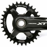 WOLF TOOTH Drop-Stop Chainring, Elliptical 96 mm BCD Chainrings for Shimano XT M8000 (NEW)