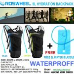 ROSWHEEL HYDRATION BACKPACK + FREE 2L WATER BLADDER ONLY RM88.00