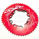 Red Doval Oval Roadbike Chainring BCD 110