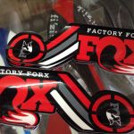 Fox Factory Fork Sticker (Limited Red) Set (free pos w.m)