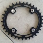 Qikour Oval  34T Single Chain Ring ( 96BCD ) - 8-11speed --  free courier