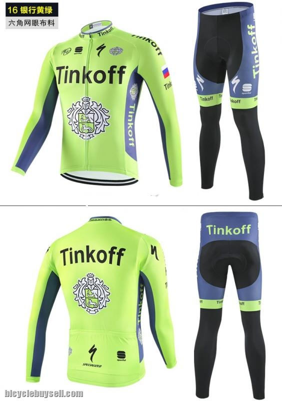 Breathable Pro Cycling Long sleeve jersey with padded pants Sky Tinkoff  Lotto Lampre Merida da275645e