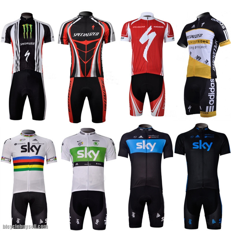 9030ffc43 Short Sleeve SKY Specialized Cycling Shorts Jersey adidas