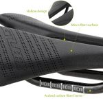 GUB1152 1156 1158 lightWEIGHT bicycle carbon hollow saddle leather saddle