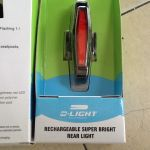 D-Light Rechargeable Super Bright - Aero Rear Light - 25Lumens -- free courier