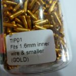 BRAKCO Alloy Cable end Tip - Gold/Red Anodized Polised - 600pcs