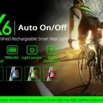 MEILAN X6 INTELLIGENT RECHARGEABLE STREAMLINE BIKE REAR LIGHT