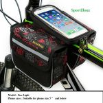 "CoolChange Top Tube Bag with phone holder (5"" and below)"
