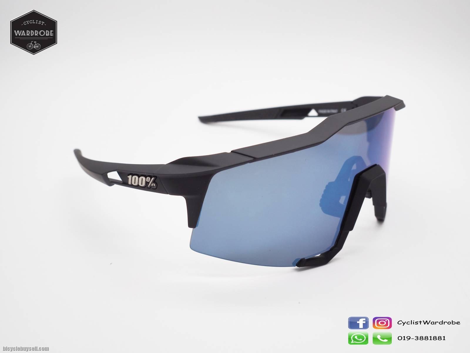 100/% Speedcraft LL Soft Tact Black Black Ice Mirror Lens Sunglasses