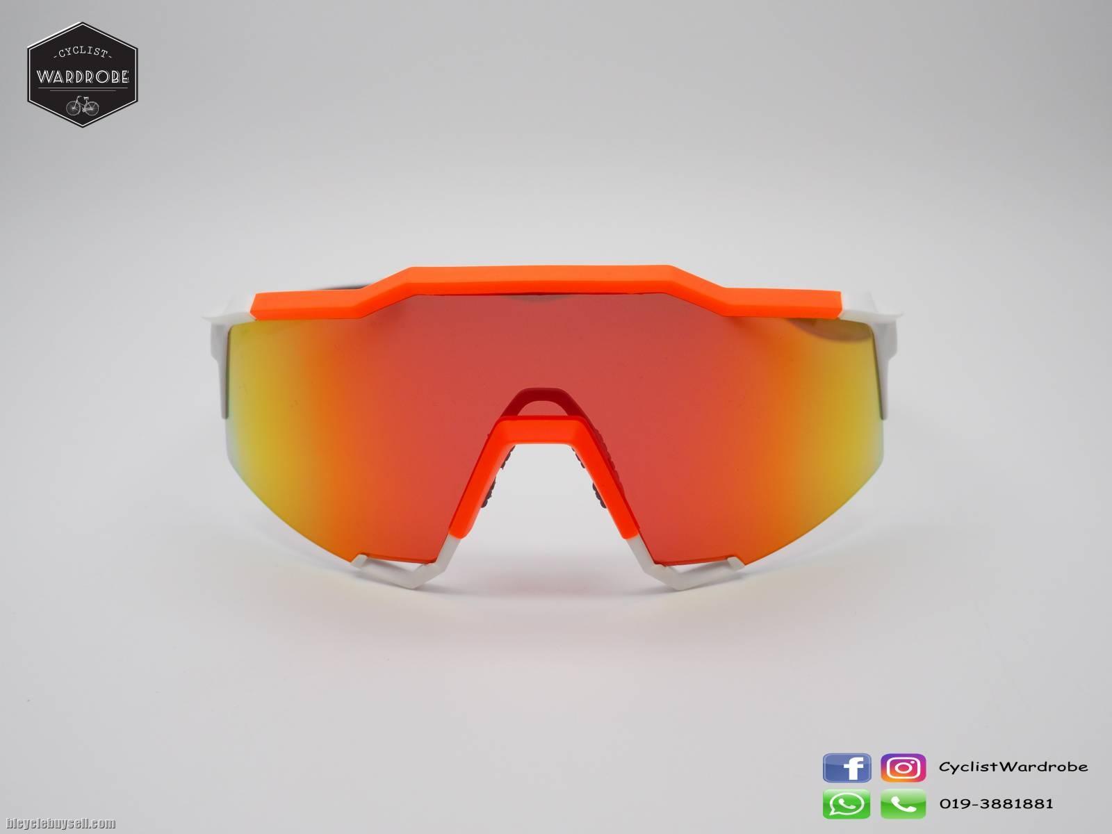 0e81113652 100% SPEEDCRAFT - White Neon Orange - HiPER Red Multilayer Mirror