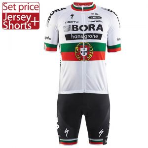Pro team jersey with gel padding bib set