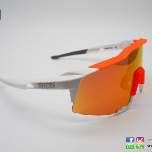 100% SPEEDCRAFT - White/Neon Orange - HiPER Red Multilayer Mirror