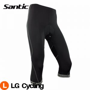 SANTIC Bicycle Cycling Men's 3/4 Shorts With 4D Pad Bike Short Pants Sportwear