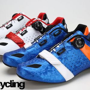 Santic Men's Cycling Road Shoes Carbon Fiber Light Breathable Bicycle Shoes