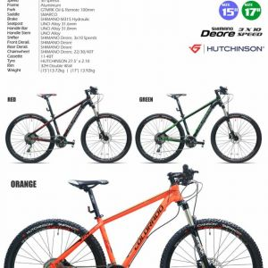 "27.5"" TRS COLORADO Alloy Framed MTB Mountain Bike Bicycle (Shimano Deore 30 Speed)"