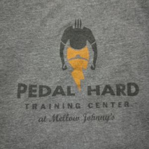 Pedal Hard Training Centre Mellow Johnnys Bike Shop Collectible Tshirt Rare