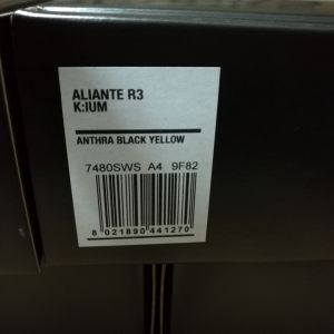 Fizik  Aliante R3 K:ium --Anthra Black Yellow--- (RB) 220gram