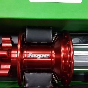 Hope Evo Pro 4 Hub (Red Color) Front (15mm) & Rear (142x12mm)