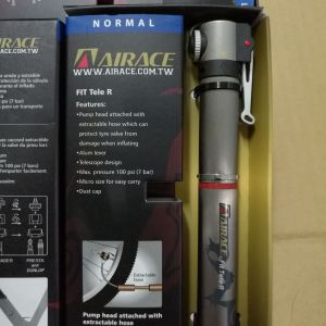 Airace Fit Tele R (Titanium color) --100psi (10bar)-- (mini Hand Pump)