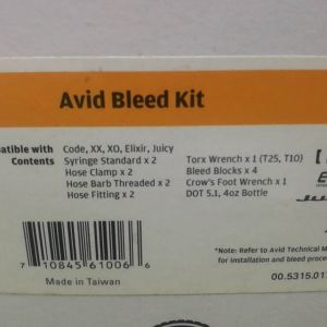 AVID STANDARD BLEED KIT + DOT 5.1 BRAKE FLUID (FREE POS)