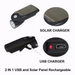 2 IN 1 USB Solar Panel Rechargeable Headlight