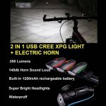 2 IN 1 USB CREE XPG LIGHT + ELECTRIC HORN