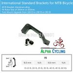 Brake Mtb post mount for all size 160,180,203mm (PM/IS) @ free pos