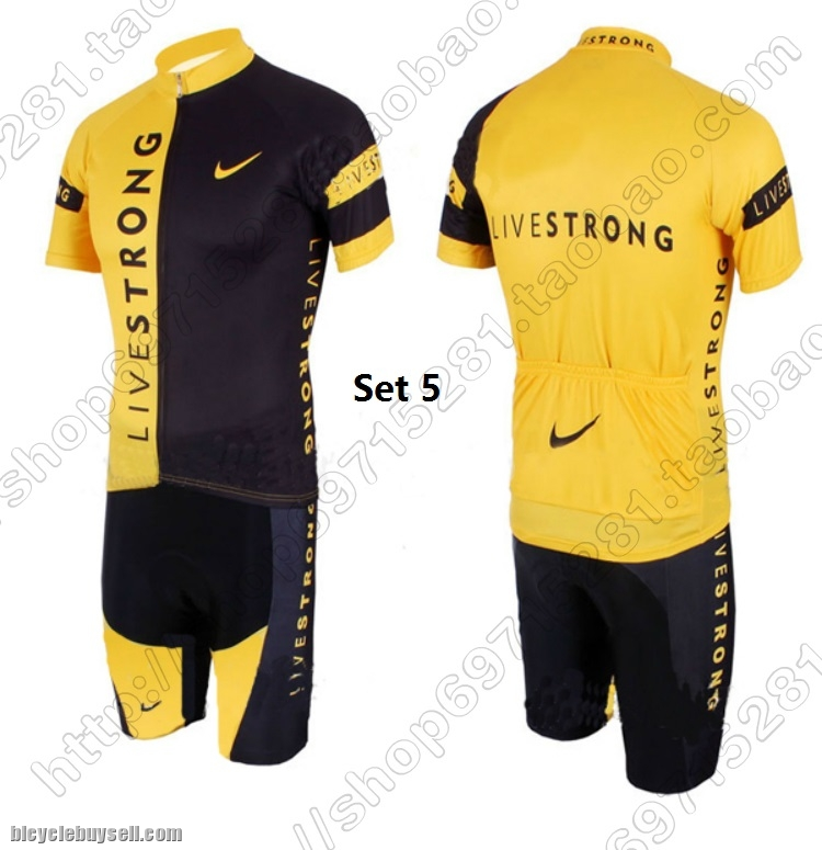 Livestrong shorts sleeve cycling jersey padded 49ec0bccd
