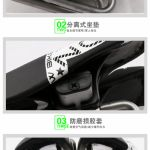 Nowbike Dual-pad Dual-Seat Cushion No-nose Hornless Saddle Comfortable PU Cycling Cushion Seat