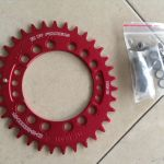 Fouriers Oval Single ChainRing - M7000,M8000,M9000 Compatible - 34T Red - Taiwan -- free courier