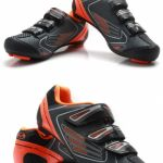 TB36-B1521 Tiebao Road shoe clipless straps (orange Fluorescent Yellow) | Shimano rp2