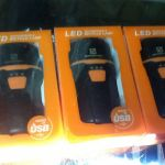 Geometric USB Rechargeable Front HeadLight 300Lumens Super Bright (free pos w.m)