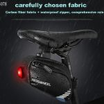 Roswheel Bicycle Saddle Bag With Tail Lamp Light