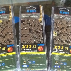KMC X11-93 11-Speed Chain (MTB/Road) 116Links / Made In Taiwan  (free pos w.m)