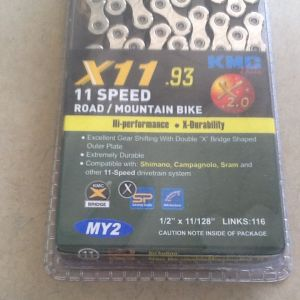 KMC X11-93 Road/MTB World Chain - 11speed 116Links - Shimano,Sram,Campagnolo -- free courier