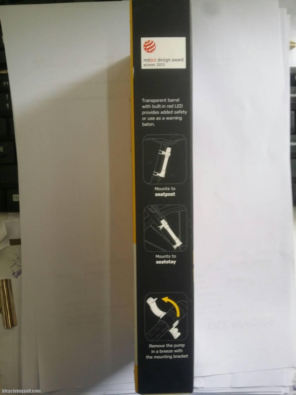 Topeak TIG-MR02 MiniRocket iGlow Bike Bicycle Cycling Presta Pump 160psi 11bar