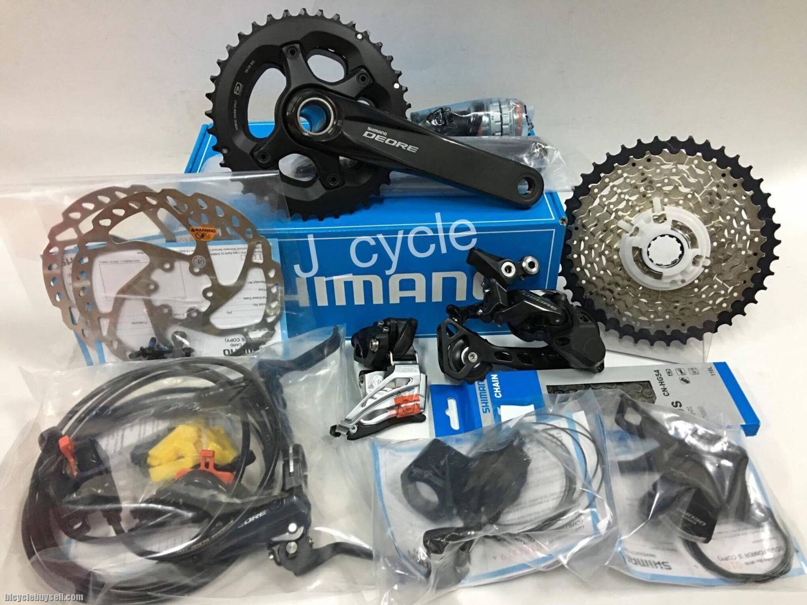 a171af45f34 Shimano 2018 Deore M6000 2x10 Groupset (9 items) - free pos